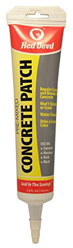 Red Devil 0645 Pre-Mixed Concrete Patch, 5.5 Oz. Squeeze Tube, Pack of 12, Gray, 12 Pack