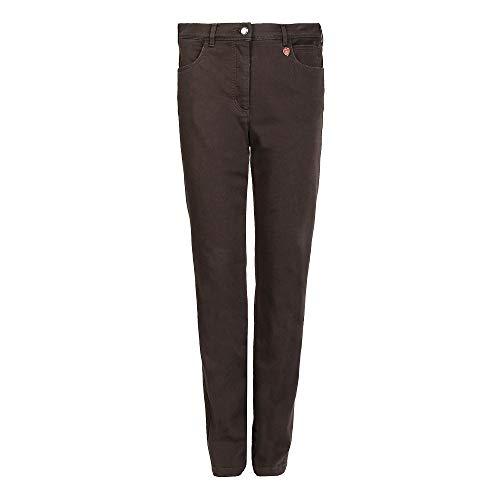 Relaxed by Toni Meine Beste Freundin Jeans Damen Jeans gerader Beinverlauf Stoff, Groesse 44K, Dunkelbraun Denim