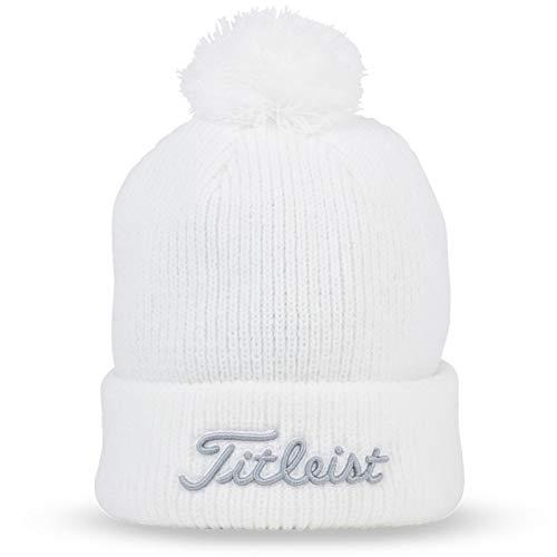 Titleist Golf 2019 Pom Pom Winter Beanie Toboggan (White)