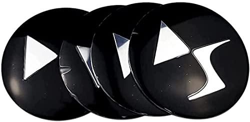 4 Tapas Centrales De Rueda, Tapacubos, CalcomaníA Con Emblema De Tapa Central De Rueda De AleacióN, Para Citroen C3 C4 C5 Elysee Berling Xsara Picasso Saxo Cactus DS3 DS4 DS6 56mm