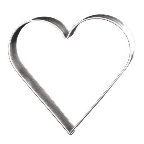 Lares - Ausstecher/Ausstechform - für Kekse, Plätzchen, Lebkuchen & Co - Größe: 12cm, Höhe: 1,7cm - Motiv: Herz - Made in Germany