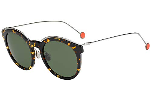 Dior Christian DiorBlossom Sonnenbrille Havana Mit Grünen Grauem Gläser 52mm 0M785 DiorBlossom/S Diorblossom Blossom