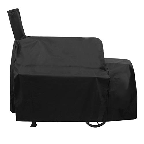 Unicook Heavy Duty Waterproof Grill Cover for Oklahoma Joe's Highland Smoker, Charcoal Offset Smoker Cover, Fade and UV Resistant, Fits Char-Broil, Dyna-Glo, Royal Gourmet, Char-Griller and More
