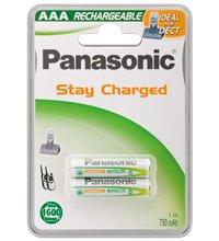 Panasonic - Pilas recargables (750 mAh,NiMH, P03 HR03, Micro