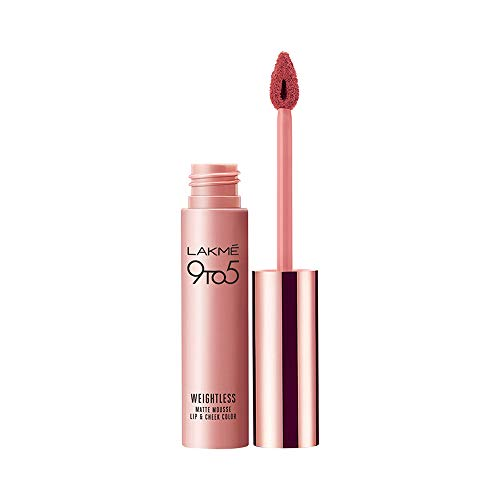 Lakme 9 to 5 Weightless Mousse Lip & Cheek Color, Nude Cushion, 9 g