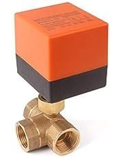 3-weg Zoneklep Kogelkraan Afsluiter,2-Standen,DN25 G1 inch, AC 230V,Driewegklep Schakelklep,Kogelkraan,Elektrische klep [Energieklasse A]