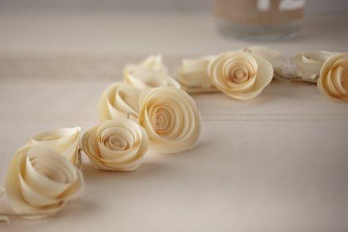 Ginger Ray Décoration Ivoire Fleur de Papier de Fête de Mariage de Guirlande - Affaire Cru