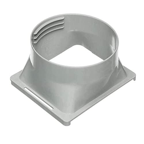 Condizionatore d'aria portatile Accoppiatore del tubo di scarico Interfaccia quadrata rotonda Condizionatore d'aria mobile Interfaccia adattatore del corpo Tubo di scarico (15 cm)
