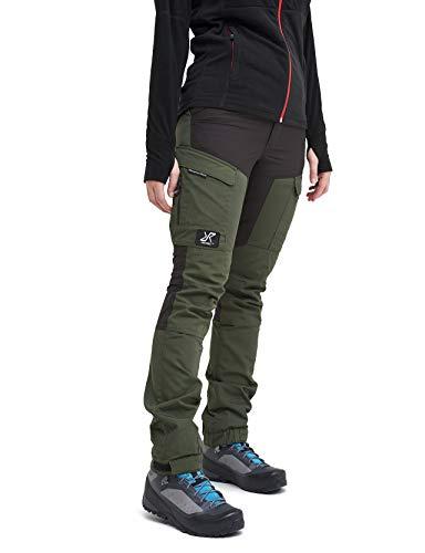 RevolutionRace Damen GPX Pants, Hose zum Wandern und für viele Outdoor-Aktivitäten, Forest Green, 34