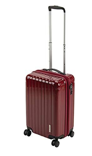キャプテンスタッグ(CAPTAIN STAG) スーツケース キャリーケース キャリーバッグ 超軽量 TSAロック ダブルホイール 360度回転 静音 ダブルファスナータイプ 機内持込 Sサイズ ベリー パルティール UV-75