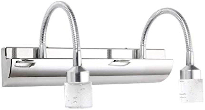 Die Erntezeit Moderner LED-Spiegelschrank Spiegel Vorne Licht Einfache Badezimmer Leuchten Schlafzimmer Badezimmer Kristallspiegel Beleuchtung (Gre  32cm (12,5 in))