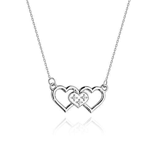 Collar de diamantes o cadena de oro para mujer Zlocisto Muestra585 , con diamantes talla brillante 0,015ct H/Si