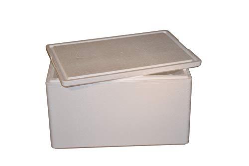 Klaassen Styroporbox | Thermobox 595x395x360mm // 53,7L // - Warmhaltebox - Kühlbox für Getränke mit Deckel