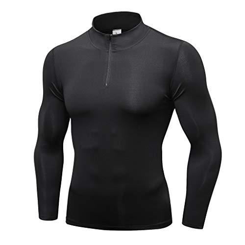 Blousons Manteaux Homme,FNKDOR Hommes Hiver Chaud épissage Sweatshirt Manteau Veste Cuir Outwear Pull Blouse Tops(Noir,M)