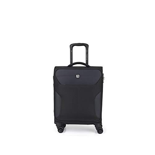 Gabol - Nordic | Maleta de Cabina con Cargador de Tela de 40 x 55 x 20 cm con Capacidad para 35 L de Color Negro