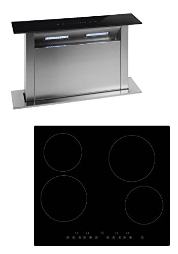 Hob & Downdraft Pack | Cookology CET600 Ceramic Hob & 60cm...