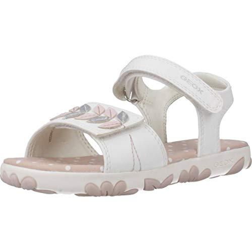 Geox J Sandal Haiti Girl Punta Aperta Bambina, Bianco (White C1000), 33 EU