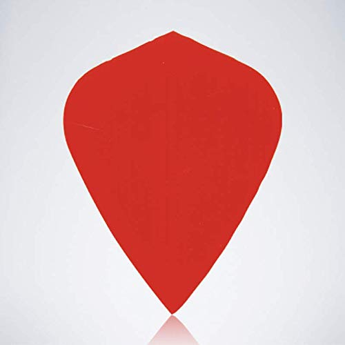 myDartpfeil Rote Kite Type 1 Dart Flights | EINFARBIG aus Kunststoff | 3er Flight Set | Dartpfeil Flyer