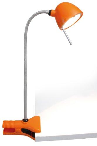 Naeve Leuchten 407998 - Lampada da scrivania con braccio flessibile, lampadina G4 max. 20W inclusa, trasformatore incluso, classe di consumo energetico C, 270 lm 2750 K 20 W, autonomia: 2000 ore, diametro 8 mm, 35 x 50 x 35 cm, in metallo / plastica, colore: Arancione