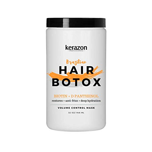 Kerazon Hair Botox Treatment provides smoothing, deep hydration, nutrition, shine, softness, volume control and hair smoothness with 0% of Formaldehyde! For all types of hair. Salon Size.