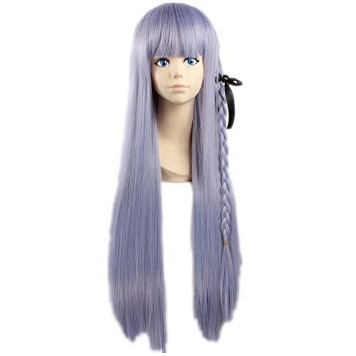 Perruque NiceLis pour femme - Pour soirée cosplay - Longue perruque bleue et violette pour jeu de rôle