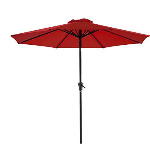 Bluu 10ft Patio Umbrella Outdoor Market Table Umbrella with Push Button Tilt and Crank(Brick Red)