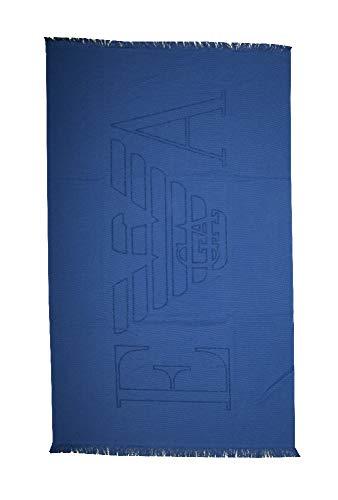 Emporio Armani Swimwear Towel Essential Toalla, multicolor (Anemone), Talla única Unisex Adulto
