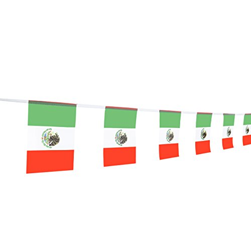 TSMD Mexico Flag, 100Feet Mexican Flag National Country World Flags Banner,Party Decorations for Grand Opening,World Cup,Olympics,Bar,Sports Clubs,School Events,International Festival Celebration