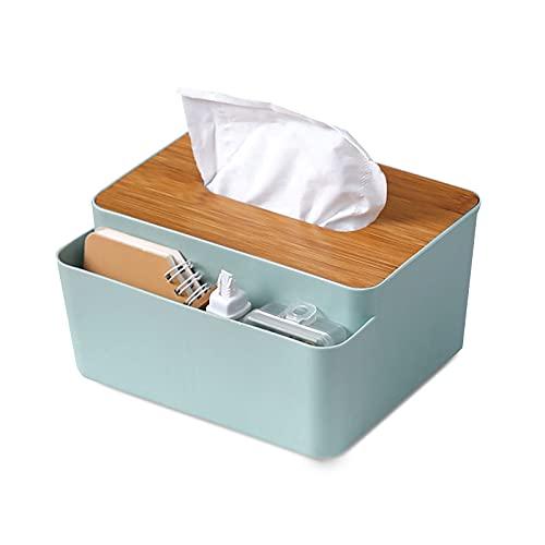 Fyfjur Caja para pañuelos, Caja de PañUelos con Compartimento de Caja de PañUelos Japonesa Creativa, Caja de pañuelos de cosméticos, Caja de pañuelos de Madera y plástico, para el baño