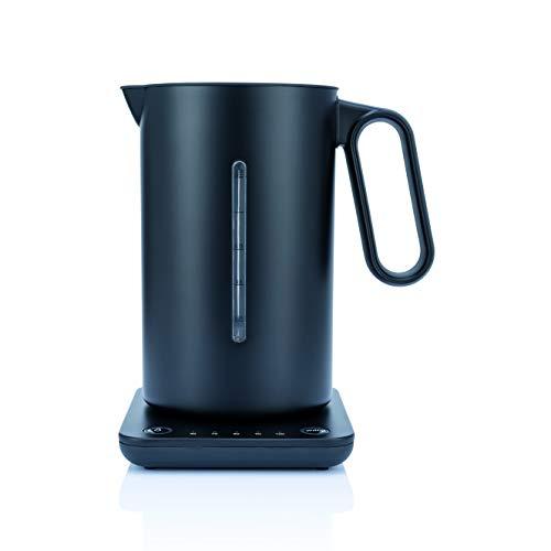 Hervidor de agua Wilfa SVART FORMAT - Con 1,25 litros de capacidad, 2200 vatios, indicacion del nivel del agua en el exterior, negro
