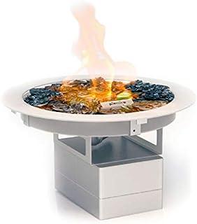 Planika Galio Fire Pit Insert Einbaubrenner Gaskamin Außenbereich: Gasflasche Propan, Butan - mit Fernbedienung - mit Glaszylinder - mit WLAN Modul