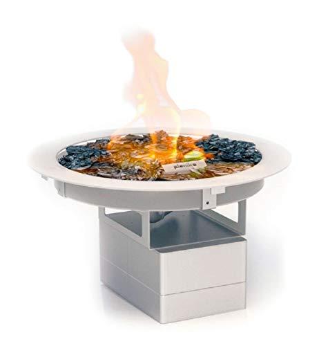 Planika Galio Fire Pit Insert - Quemador empotrable para chimenea de gas (propano, butano), sin mando a distancia, sin cilindro de cristal, automático