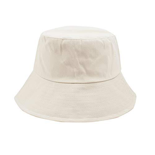Festnight Cappello da Pescatore Cappello da Sole Cappello da Pescatore Pieghevole a Prova di Sole per Viaggi Escursionismo Outdoor Beach Holiday Nero Beige Khaki