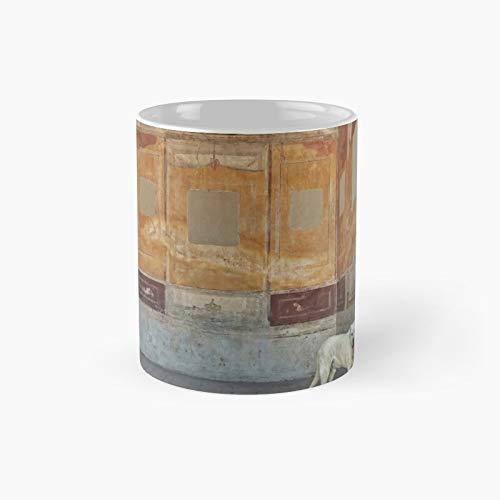 Taza clásica con diseño de perros de Pompeya | El mejor regalo divertido tazas de café de 325 ml