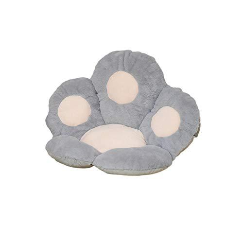 Cojín de asiento con forma de pata de gato, suave y acogedor Cojín de silla con forma de pata de oso Cojín de asiento cómodo de felpa, soporte para la cintura, columna lumbar, caderas y columna
