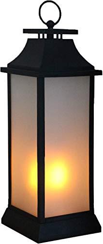 Tronje 55cm LED Laterne mit 4h-Timer - Feuer-Lampe mit lodernden Flammen - Deko-Leuchte kabellos