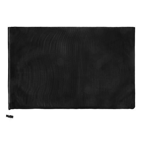 巾着のスポーツ バッグ ランドリー メッシュ バッグ 多機能 100% 洗濯機と乾燥機の安全なメッシュ バッグ エコフレンドリーな再利用可能なバッグ (ブラック, 17.8cm X 25.4cm)