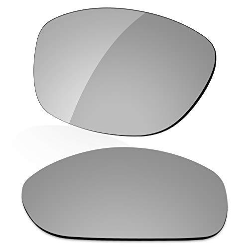 LenzReborn Reemplazo de lente polarizada para Arnette Hot Shot AN4182 Sunglass - Más opciones, Gris Plata - Espejo polarizado, Talla única