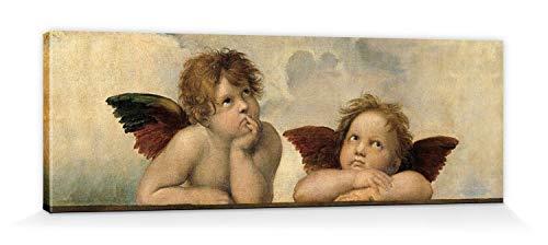 1art1 Raphael - Raffaels Engel (Detail) Bilder Leinwand-Bild Auf Keilrahmen | XXL-Wandbild Poster Kunstdruck Als Leinwandbild 120 x 40 cm