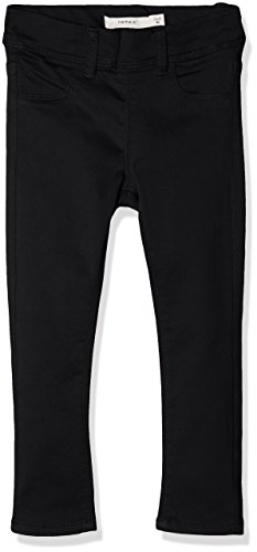 Name It Nittinna Skinny TWI Legging F NMT Noos Pantalon, Noir (Black Black), 92 Bébé Fille