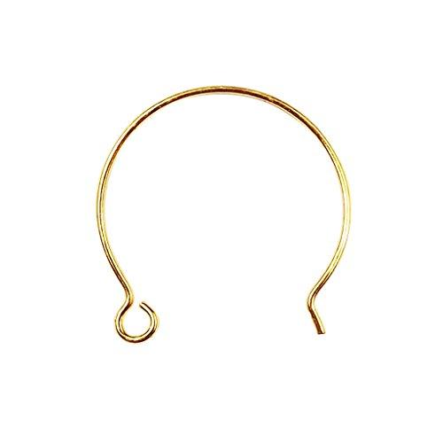 Earwire recubierto de oro de 18 quilates FG-201