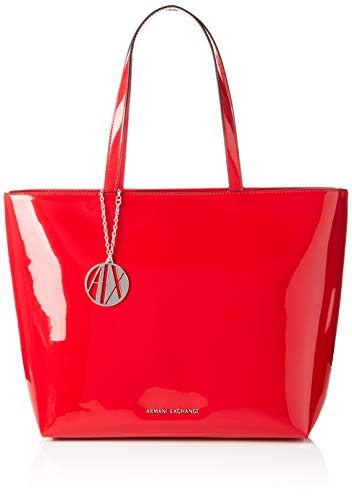 ARMANI EXCHANGE Womans Shopping - Borse Tote Donna, Rosso (Red), 29x12x43 cm (B x H T)