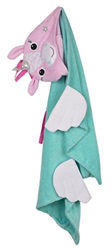 Zoocchini–Toalla con capucha 100% algodón toalla con capucha, Allie el unicornio
