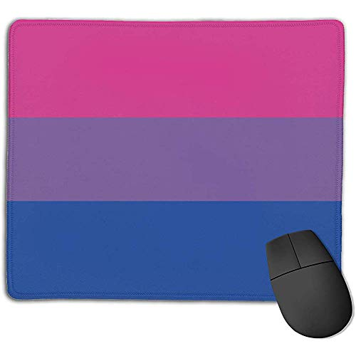 Muismat met gestikte randen Biseksualiteit Pride Vlag Anti Slip Rubber Base Mouse Pad Mat