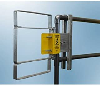 FabEnCo XL Series Carbon Steel Galvanized Clamp-On Self-Closing Safety Gate, Fits Opening 25-27.5