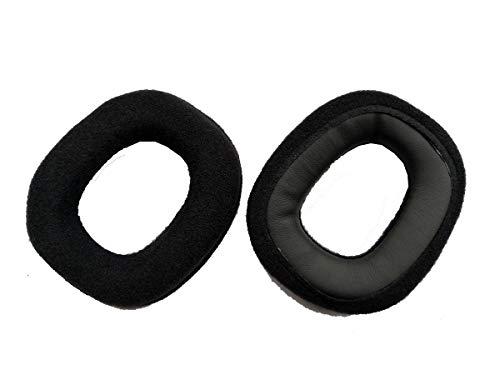 Sustitución de piezas de reparacion para cuero almohadillas Astro A50 Gaming Headset Ear Pad auriculares orejeras amortiguador (negro) (almohadillas negras)