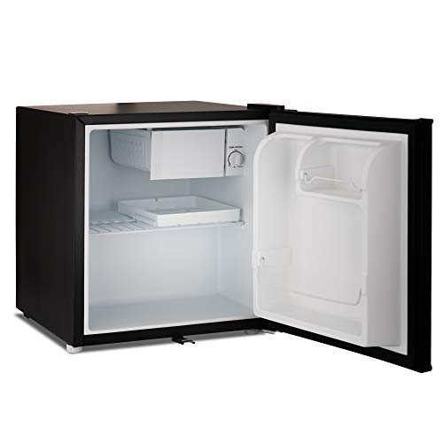 Subcold Eco50 Mini Fridge Black | Table-Top Model | Counter-Top Fridge | Solid Door with Ice-Box | Lock & Key | Low Energy A+ (50L, Black)