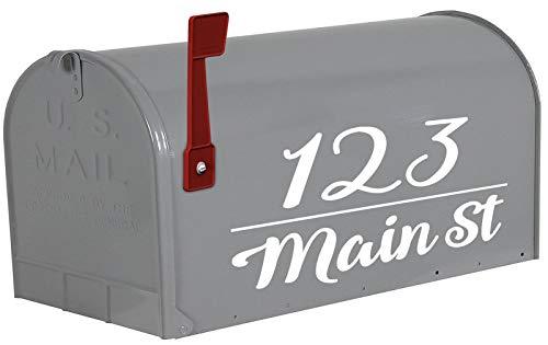 VWAQ Personalized Mailbox Address Decals Custom Mailbox Sticker Home Address - TTC21 (White)