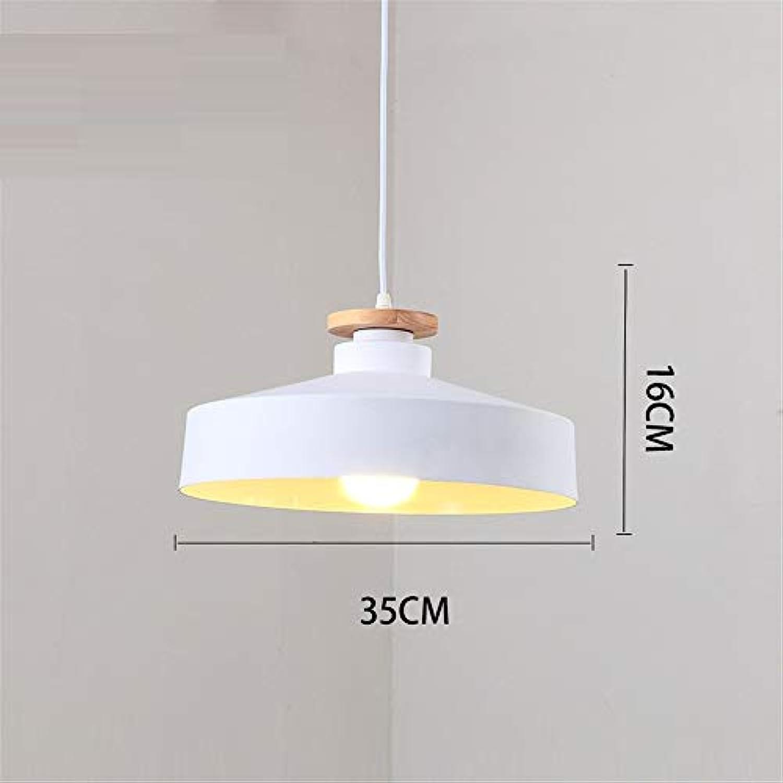 Pendelleuchten Hnge,E27-Kronleuchter Nordic Minimalistisches Büro-Schlafzimmer-Einzelkopf-Innendeckenbeleuchtung (Ohne Glühlampe) 35Cm,Wei