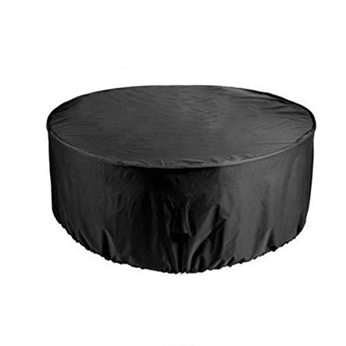 OKMIJN - Funda circular para mesa (tela Oxford, impermeable, transpirable), color negro, Fibra sintética, 185*110CM